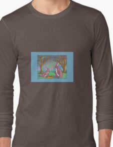 Distracted Easter Bunnies Long Sleeve T-Shirt