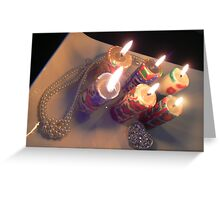 bling candles  Greeting Card
