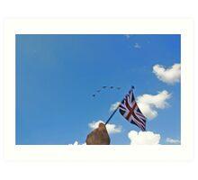 Flying the flag 2 Art Print