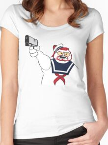 Over the Puft Line! Women's Fitted Scoop T-Shirt