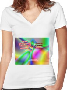 The Best And Most Beautiful Things In The World Women's Fitted V-Neck T-Shirt