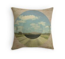 Open Road Collage Throw Pillow