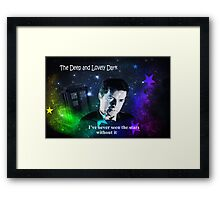 Doctor in the Dark Framed Print