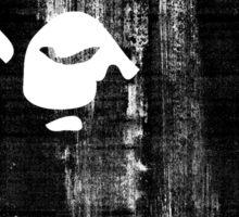 bape black n white Sticker