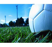 Soccer ball in the summer Photographic Print