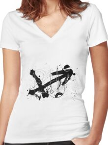 Gonzo Zodiac - Sagittarius Women's Fitted V-Neck T-Shirt