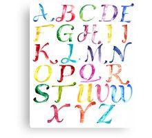 Alphabet Metal Print