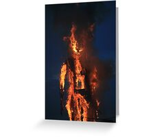 On Fire Greeting Card