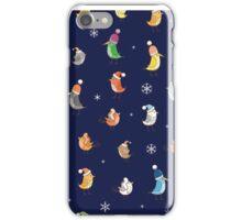 Pattern with birdies. iPhone Case/Skin