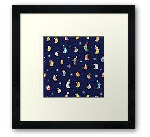Pattern with birdies. Framed Print