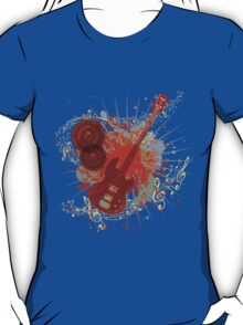 Music Poster with Guitar 6 T-Shirt
