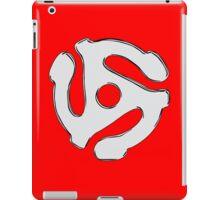 Cool retro vintage chrome 45 spacer dj print geek funny nerd iPad Case/Skin