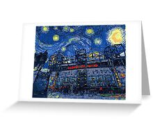 Starry Night in Manchester - www.art-customized.com Greeting Card