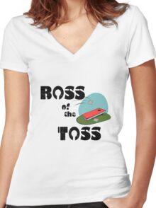 Corn hole boss geek funny nerd Women's Fitted V-Neck T-Shirt