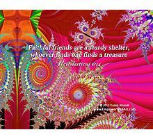 Faithful Friends Photographic Print