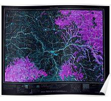 USGS Topo Map Washington Pullman 243312 1955 250000 Inverted Poster