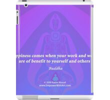 Work and Words are of Benefit iPad Case/Skin