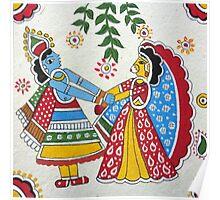 Hindu Gods Radha-Krishna Raasleela Poster