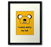 Adventure time - Marry my bed Framed Print