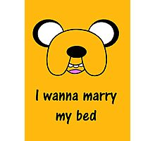 Adventure time - Marry my bed Photographic Print
