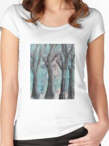 Winter Trees Women's Fitted Scoop T-Shirt