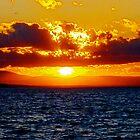 Sunset over Lake Champlain by A. Kakuk