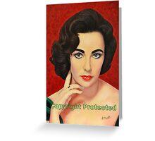 Portrait - Elizabeth Taylor Greeting Card