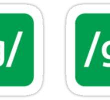 /g/ Sticker
