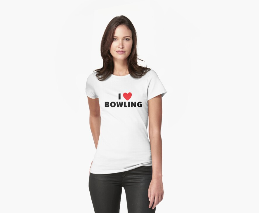 I Love Bowling by SportsT-Shirts