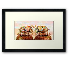 true happiness elephants Framed Print