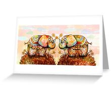 true happiness elephants Greeting Card