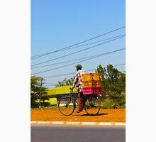 Man on a bicycle in Nairobi, KENYA Unisex T-Shirt