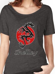 Dragon sun black red white geek funny nerd Women's Relaxed Fit T-Shirt