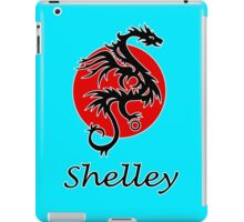 Dragon sun black red white geek funny nerd iPad Case/Skin