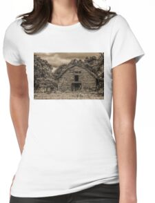The Wind Whistles Through: Sepia Womens Fitted T-Shirt