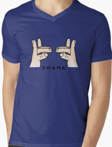 Drama llama geek funny nerd Mens V-Neck T-Shirt