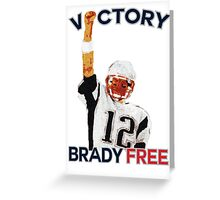 Tom Brady Deflategate Victory Greeting Card