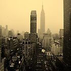 Snowy New York Skyline by Betsy Foster Breen
