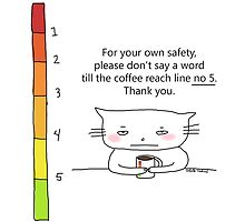 Coffee safety chart / Cat doodle by eyecreate