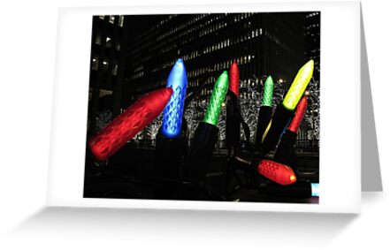 Giant Christmas Lights in New York City by Betsy Foster Breen