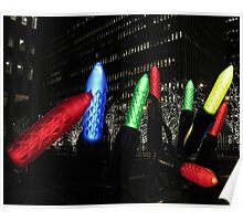 Giant Christmas Lights in New York City Poster