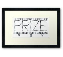 Diamond Prize Framed Print