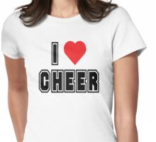 "Cheerleading ""I Love To Cheer"" Womens Fitted T-Shirt"