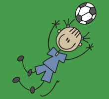 Girl blue uniform soccer player and gifts geek funny nerd by antoharjo