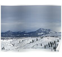 The Buttes in Winter Poster