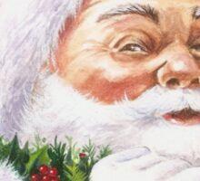 Santa with a holly wreath Sticker