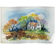 THE HOUSE OF THE FORESTER - AQUAREL Poster