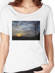 Sunset: Blue Glow Women's Relaxed Fit T-Shirt