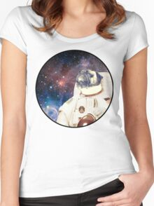 Astro Pug Women's Fitted Scoop T-Shirt
