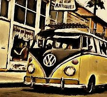 Antique's van by Sharon Poulton